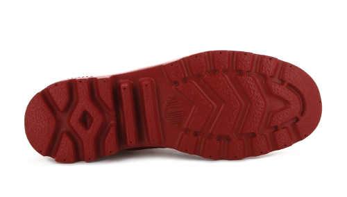 Modern piros bokacsizma