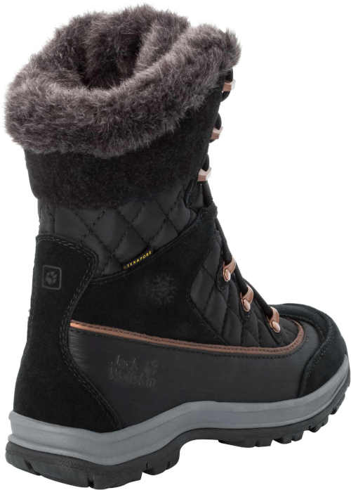 Fekete-szürke női termo cipő