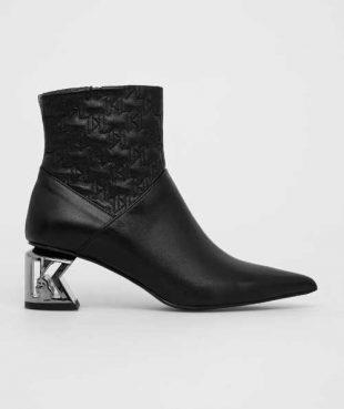 Karl Lagerfeld bőr bokacsizma